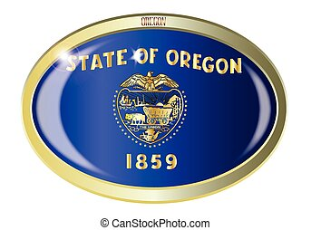 Oregon State Flag Oval Button