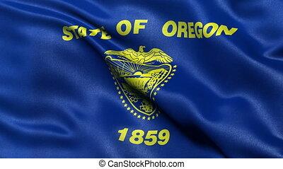 Oregon state flag seamless loop