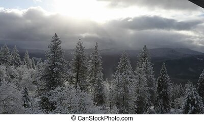 Oregon Winter Weather HD Video - HD video of winter weather...