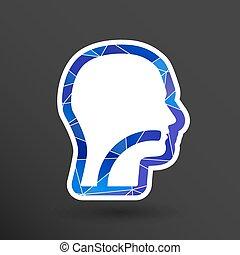 orelha, símbolo, -, ilustração, vetorial, nariz, garganta