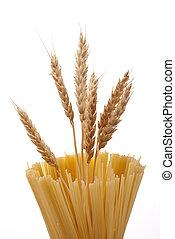 orelha, trigo, espaguete