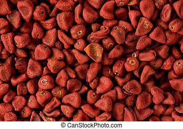 orellana),  (bixa, rouges,  annatto, Graines