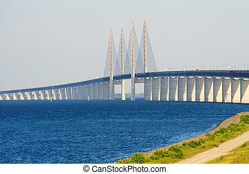 Oresund Bridge between Denmark and Sweden, Europe