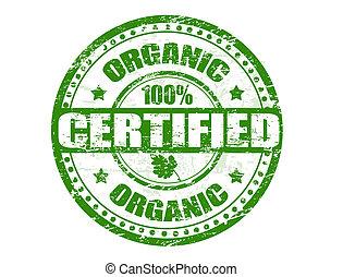 orgánico, estampilla