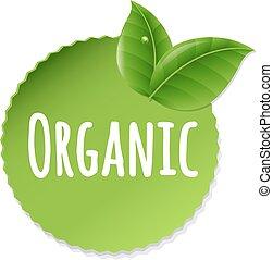 orgánico, etiqueta