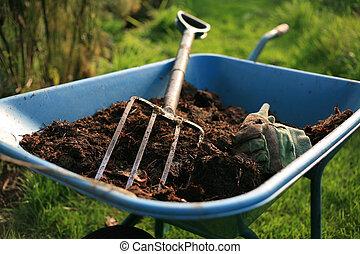 orgánico, jardinero