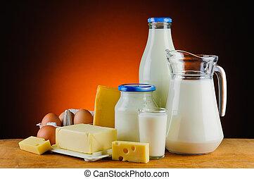 orgánico, productos, daity