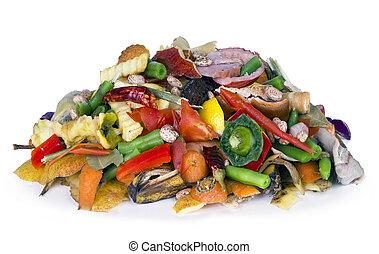 orgânica, comestível, deteriorar