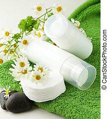orgânica, -, cosmético, rosto, cuidado, creme