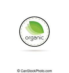 orgânica, ilustração, sinal