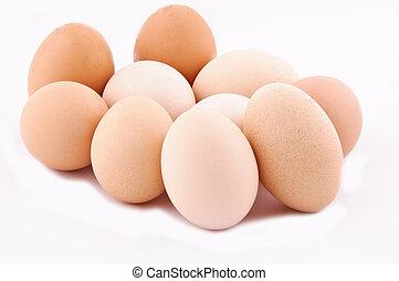 orgânica, ovos