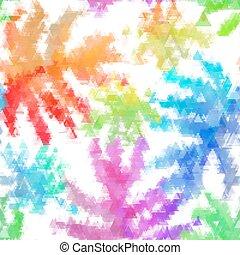 orgânica, padrão, seamless, colorido, aquarela, vetorial, fundo, macio