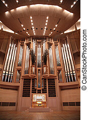 Organ in concert hall