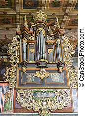 Organ in  St John the Baptist Church - Orawka, Poland.