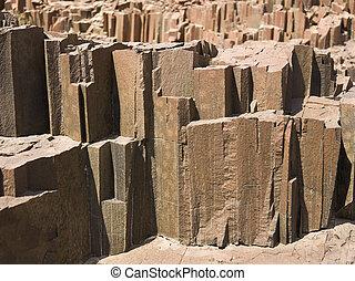 Organ Pipes - Basalt, volcanic rocks near Twyfelfontein, ...
