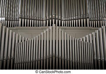 Organ pipes in Danish church.
