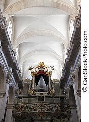Organ pipes in Dubrovnik Cathedral, Croatia