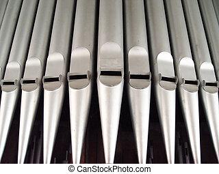 organ pipes - inside a church