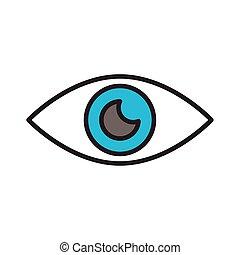 organ, stil, mänsklig, fodra, fylla, ögon, ikon