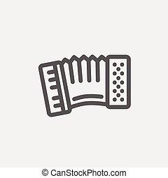 Organ thin line icon - Organ icon thin line for web and ...