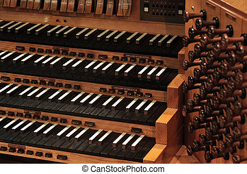 organe pipe, clavier