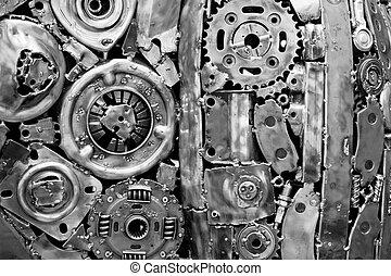 organes de la machine, métal, soudé, ensemble