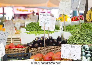 Organic and vegetables market