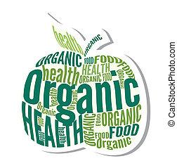 Organic apple design label