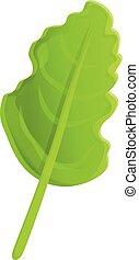 Organic arugula icon, cartoon style