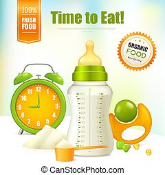 Organic Baby Food Background