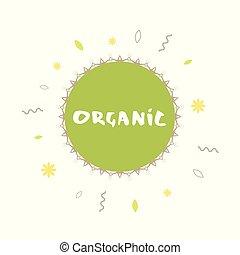 Organic banner. Vector illustration.