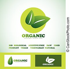 Organic bio food logo