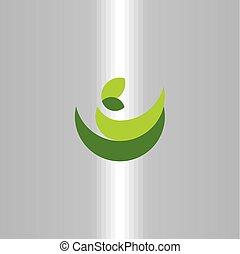 organic bio green logo symbol natural leaves sign vector icon