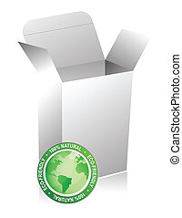 organic blank product box
