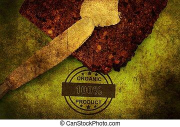 Organic bread grunge concept