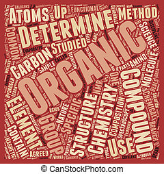 Organic Chemistry 101 text background wordcloud concept