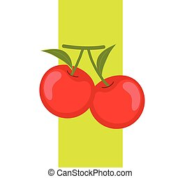 Organic Cherries Vector