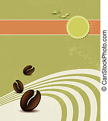 Organic coffee background