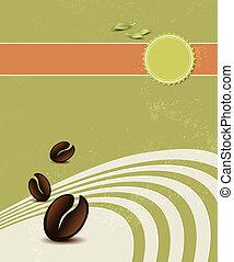 Organic coffee background
