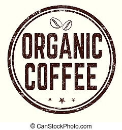 Organic coffee sign or stamp