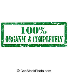 Organic & Completely-stamp