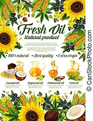 Organic cooking oils, sunflower and olive - Natural cooking ...