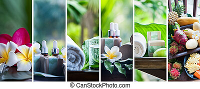 Organic cosmetics, natural fruit oils. Concept spa, skin care, ecological and organic natural cosmetics.