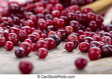 organic cranberries on the table