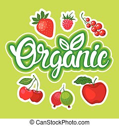 Organic Eco Food Stickers Healthy Lifestyle