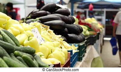 Organic Eggplant and Peppers