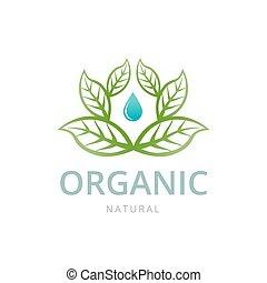 Organic emblem template
