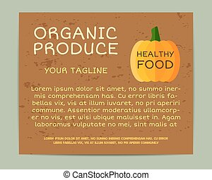 Organic farm corporate identity design with pumpkin. Branding your eco shop, company. Stickers. Mock up design. Best for natural shop, organic fairs, bio markets and local companies. Vector