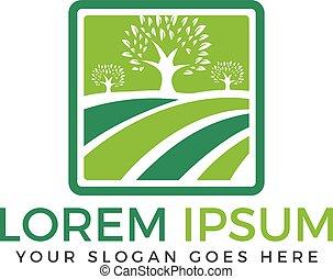 Organic farm logo design.