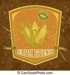 label with corn